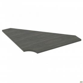 Стол сегмент SIG-112 950х950х25 мм Морское дерево Карбон