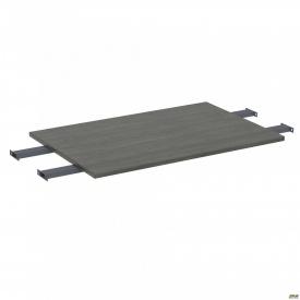 Стол сегмент с удлиненными перемычками SIG-109 (1587х800х25мм) Черный графит 60х30мм Морское дерев