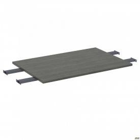 Стол сегмент с удлиненными перемычками SIG-109 (1387х800х25мм) Черный графит 60х30мм Морское дерев