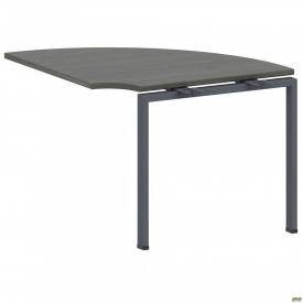 Стол приставной с кронштейнами SIG-111 (950х950х750мм) Черный графит 60х30мм Морское дерево Карбон