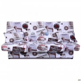Диван-кровать Ньюс механизм клик-кляк Travel с двумя подушками