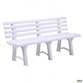 Лавка Atena пластик білий 01