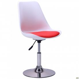 Барний стілець Aster chrome білий+червоний