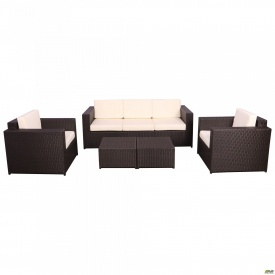Комплект мебели Santo из ротанга Elit (SC-B9508) Brown MB1034 ткань A13815