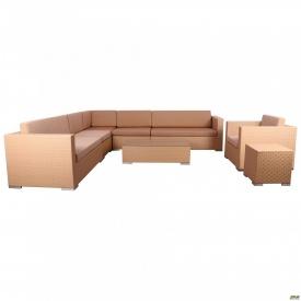 Комплект мебели Puerto из ротанга Elit SC-B 6017 Sand AM 3041 ткань A 14203