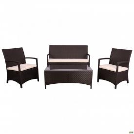 Комплект меблів Bavaro з ротанга Elit (SC-A7428) Brown MB1034 тканина A13815