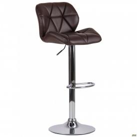 Барний стілець Vensan коричневий без канта