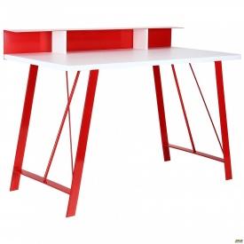 Комп'ютерний стіл Mayakovsky червоний/білий