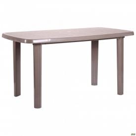 Стол Sorrento 140x80 см пластик тауп