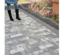 Тротуарная плитка Золотой Мандарин Паркет 450х150х60 мм грейс