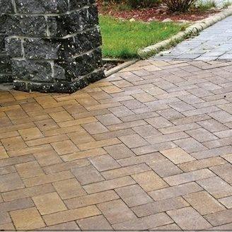 Тротуарная плитка Золотой Мандарин Кирпич без фаски 200х100х60 мм генуя