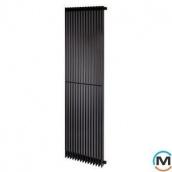 Трубчастий радіатор Betatherm Metrum BM6 1800x465x92 мм вертикальний RAL9005 чорний-матовий