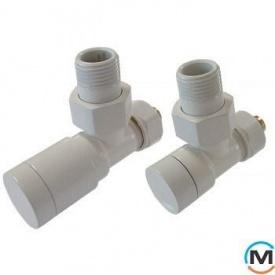 Комплект клапанів Schlosser Elegant кутовий білий для мідних труб