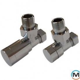 Комплект клапанів Schlosser Elegant кутовий хром для мідних труб