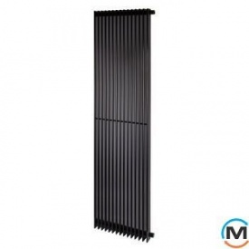 Трубчатый радиатор Betatherm Metrum BM6 1800x465x92 мм вертикальный RAL9005 чёрный-матовый