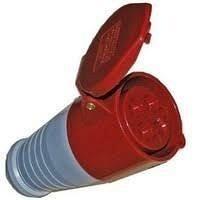 Розетка переносна 224 32А 380-415 4 контакти 3P+E червоний