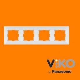 Четверна горизонтальна рамка VIKO Meridian крем