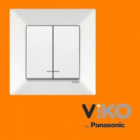 Выключатель 2-х клавишный с подсветкой VIKO Meridian крем