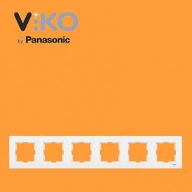 Рамка горизонтальная на 6 отверстий VIKO Karre белый