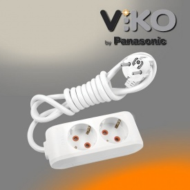 Удлинитель на 2 гнезда с заземлением 2 м Multi-let VIKO