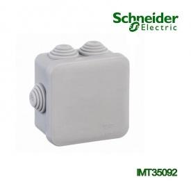 Коробка розподільна Schneider Electric 85x85x40 квадратна 6 вводів для відкритого монтажу IP55