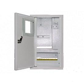 Шкаф монтажный распределительный внутренней установки с замком под 1Ф электронный счетчик Лоза ШМР-1Фэ-10В+УЗО