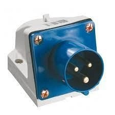 Вилка стаціонарна 523 32А 220-250 3 контакта 2P+E IP44 синій