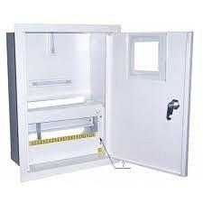 Шкаф монтажный распределительный внутренней установки с замком под 1Ф электронный счетчик Лоза ШМР-1Фэ-12В