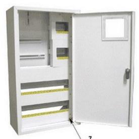 Шкаф монтажный распределительный внутренней установки с замком под 3Ф электронный счетчик Лоза ШМР-3Фэ-36В