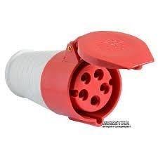 Розетка переносна 215 16А 240-415 В 5 контактов 3P+N+E червоний