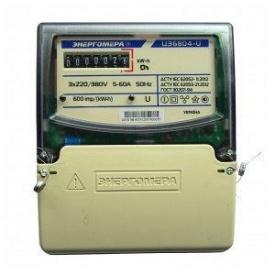 Электросчетчик трехфазный однотарифный ЭТО 6804-U/1 220В 5-60А 3ф 4пр МР32 Энергомера