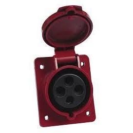 Розетка стаціонарних систем внутрішня 414 16А 380-415 В 4 контакта 3P+E червоний
