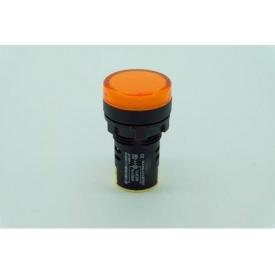 Светодиодный индикатор AD22-22DS 240v АC/DC желтый