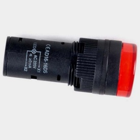 Світлодіодний індикатор AD16-16DS 240v AC/DC червоний