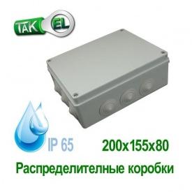 Распределительная коробка 200x155x80 Такел IP65