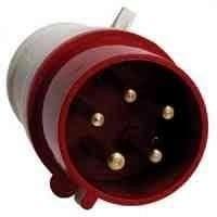 Вилка переносная 025 32А 220-380 В 5 контактов 3P+E+N IP44 красная