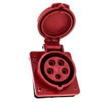 Розетка стаціонарна внутрішня 425 32A 220-380B 5 контактов 3P+E+N IP44 червона