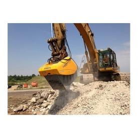 Дробление строительных отходов во вторичный щебень