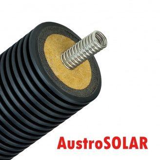 Одинарная изолированная гофрированная труба Austrosolar MCS 25 мм наружный диаметр 125 мм