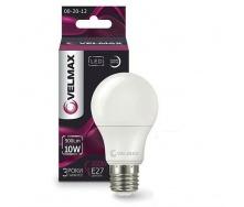Лампа LED Velmax V-A60 10W E27 4100K 1000Lm кут 240