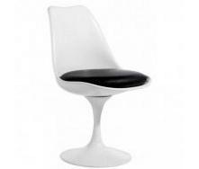 Пластиковий стілець SDM Тюльпан 520х500х820 мм білий подушка чорний