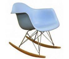 Кресло-качалка Тауэр R на полозьях пластик цвет голубой