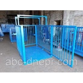Весы для взвешивания животных 1.5х2 метра 2000 кг