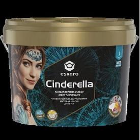 Матовая краска для стен стойкая к загрязнениям Eskaro Cinderella 9 л