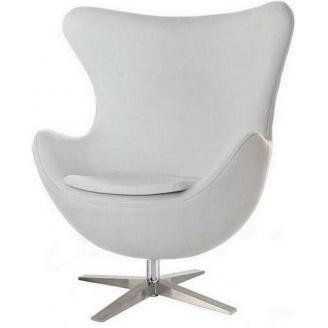 Дизайнерське крісло SDM Егг-Яйце 1130х830х780 метал екошкіра колір білий