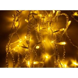 Новорічна гірлянда фасадна Ecolend 3х1 м світлодіодна жовта IP44 для вулиці під навісом (Ш31Ж)