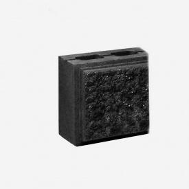 Блок Західтрансбуд Колотый камень половинка односторонний 190х90х90 мм графит