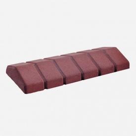 Парапет Західтрансбуд 480х200х65 мм червоний