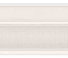 Бордюр широкий InterCerama Arte 17,5х23 см белый (БШ 132 061)