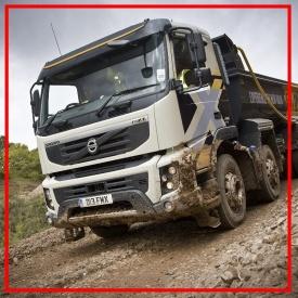 Вантажоперевезення сипучих матеріалів самоскидом з напівпричепом 40 т